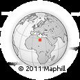 Outline Map of Libya, rectangular outline