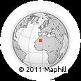 Outline Map of Eglab Cherif, rectangular outline