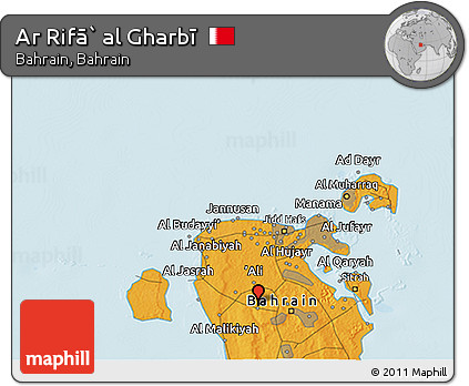 Political 3D Map of Ar Rifā` Al Gharbī