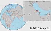 Gray Location Map of Al `Akr