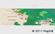 Satellite Panoramic Map of Al Janabīyah