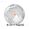 """Outline Map of the Area around 26° 21' 4"""" N, 51° 55' 29"""" E, rectangular outline"""