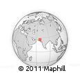 Outline Map of Sehwān, rectangular outline
