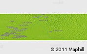 """Physical Panoramic Map of the area around 26°21'4""""N,68°55'30""""E"""