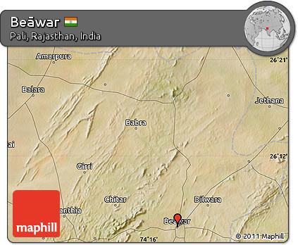 Free Satellite Map Of Beāwar - Beawar map