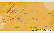 Political 3D Map of Ajmer