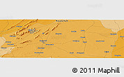 Political Panoramic Map of Ajmer