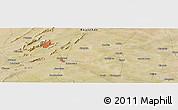 Satellite Panoramic Map of Ajmer