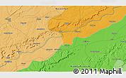 Political 3D Map of Karauli