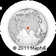 Outline Map of Karauli, rectangular outline