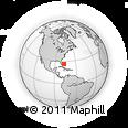 Outline Map of Marsh Harbour, rectangular outline