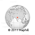 Outline Map of World Map Traveller, rectangular outline
