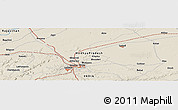 Shaded Relief Panoramic Map of Gwalior