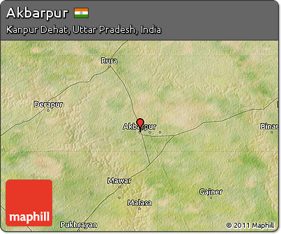 Free Satellite Map of Akbarpur