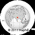 Outline Map of Kānpur, rectangular outline