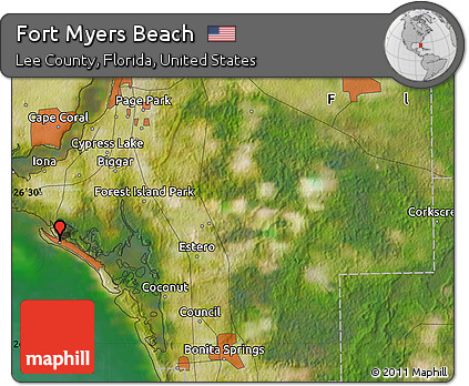 Free Satellite Map of Fort Myers Beach