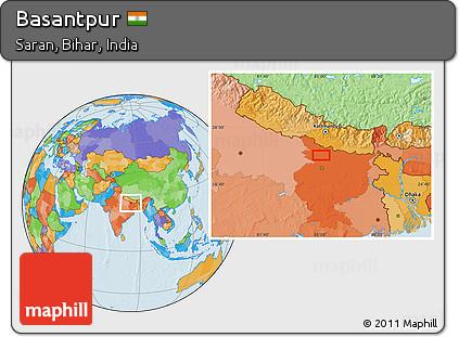 political location map of basantpur