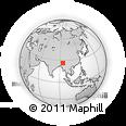 Outline Map of Mokokchung, rectangular outline