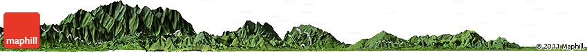 Satellite Horizon Map of Hakon