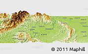 Physical Panoramic Map of Hakon