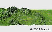 Satellite Panoramic Map of Hakon