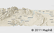 Shaded Relief Panoramic Map of Hakon