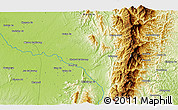 """Physical 3D Map of the area around 26°21'4""""N,96°58'29""""E"""