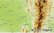 """Physical Map of the area around 26°21'4""""N,96°58'29""""E"""