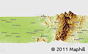 Physical Panoramic Map of Chakrai Gahtawng
