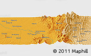 Political Panoramic Map of Chikkilang Ga