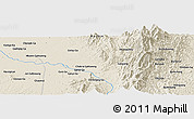 Shaded Relief Panoramic Map of Chakrai Gahtawng