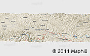 Shaded Relief Panoramic Map of Gaofeng