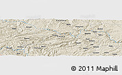 Shaded Relief Panoramic Map of Mabai