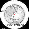 Outline Map of Yamazato, rectangular outline