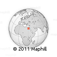 Outline Map of Egypt, rectangular outline