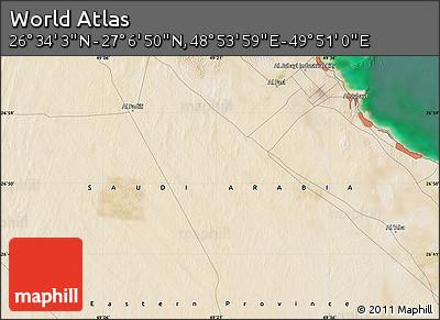 "Satellite Map of the Area around 26°50'27""N,49°22'30""E"