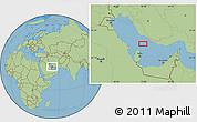 "Savanna Style Location Map of the area around 26°50'27""N,51°55'29""E"