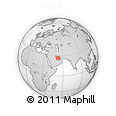 """Outline Map of the Area around 26° 50' 27"""" N, 52° 46' 29"""" E, rectangular outline"""
