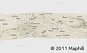 "Shaded Relief Panoramic Map of the area around 26° 50' 27"" N, 57° 52' 30"" E"