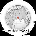 Outline Map of Pasht Koh, rectangular outline