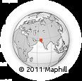 Outline Map of Moro, rectangular outline