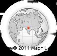 Outline Map of Bayāna, rectangular outline