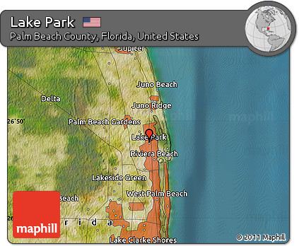Lake Park Florida Map.Free Satellite Map Of Lake Park
