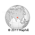 """Outline Map of the Area around 26° 50' 27"""" N, 84° 13' 29"""" E, rectangular outline"""