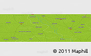 """Physical Panoramic Map of the area around 26°50'27""""N,84°13'29""""E"""