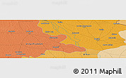 """Political Panoramic Map of the area around 26°50'27""""N,84°13'29""""E"""