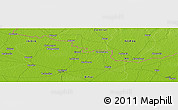 """Physical Panoramic Map of the area around 26°50'27""""N,85°4'29""""E"""