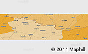 """Political Panoramic Map of the area around 26°50'27""""N,85°4'29""""E"""