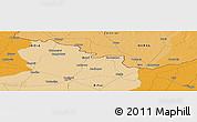 Political Panoramic Map of Pipra