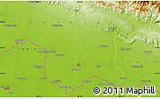 """Physical Map of the area around 26°50'27""""N,85°55'30""""E"""